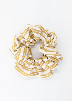 Kya Scrunchie - Tan Stripe