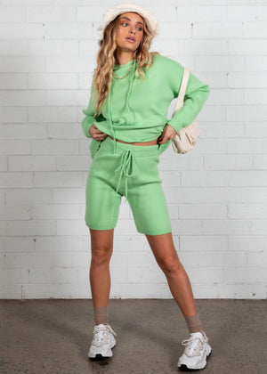 Emersyn Knit Shorts - Lime
