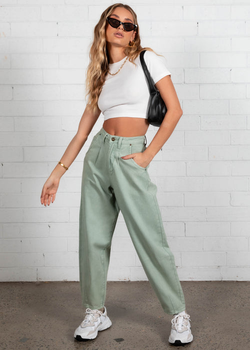 Zeppelin Cropped Tee - White