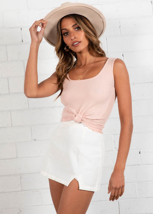 Camino Knit Crop - Blush