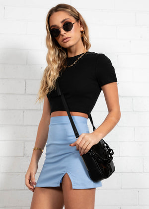 Zeppelin Cropped Tee - Black