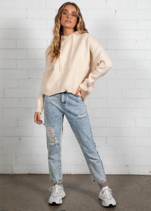 Emersyn Hooded Sweater - Cream