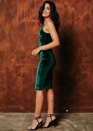 Carlita Midi Dress - Emerald