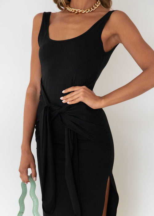 Zaynah Midi Dress - Black