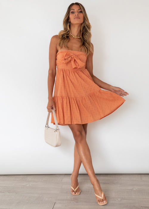 Broken Love Dress - Rust