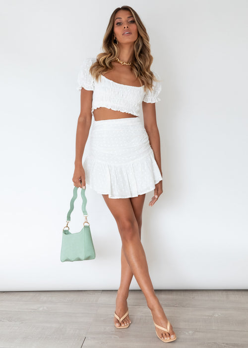 Field Of Dreams Skirt - White Anglaise