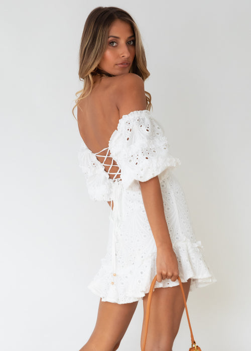 Fifi Dress - White Anglaise