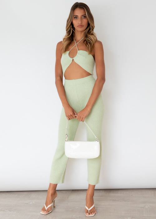 In Tune Knit Pants - Mint