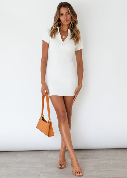 Leoni Knit Dress - Off White