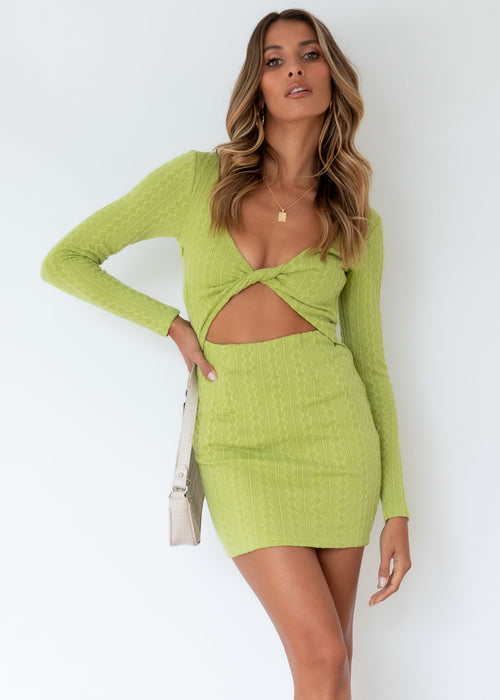 Fair Play Knit Dress - Apple