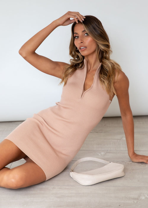 Crave You Knit Dress - Tan
