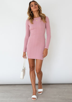 Fair Play Knit Dress - Lilac
