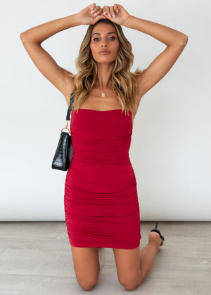 Risky Love Dress - Red
