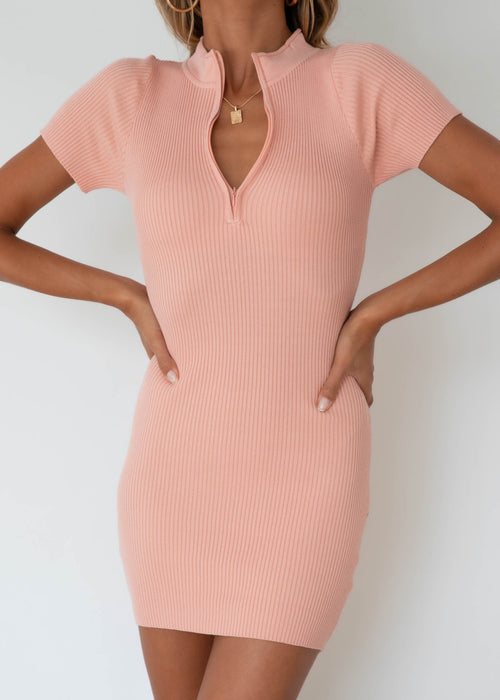 Leoni Knit Dress - Blush