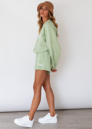 Afternoon Light Shorts - Sage
