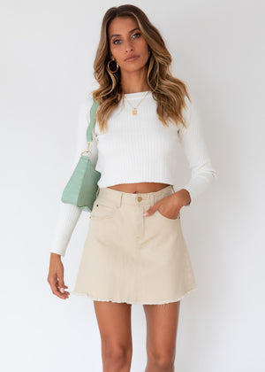 Heavenly Sent Knit Top - Off White