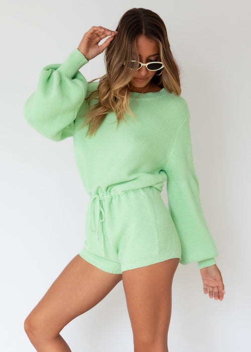 Ciao Knit Playsuit - Apple