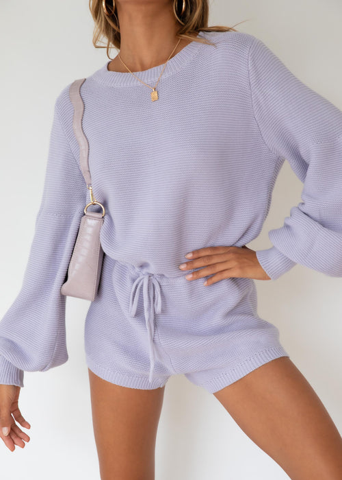 Ciao Knit Playsuit - Lilac