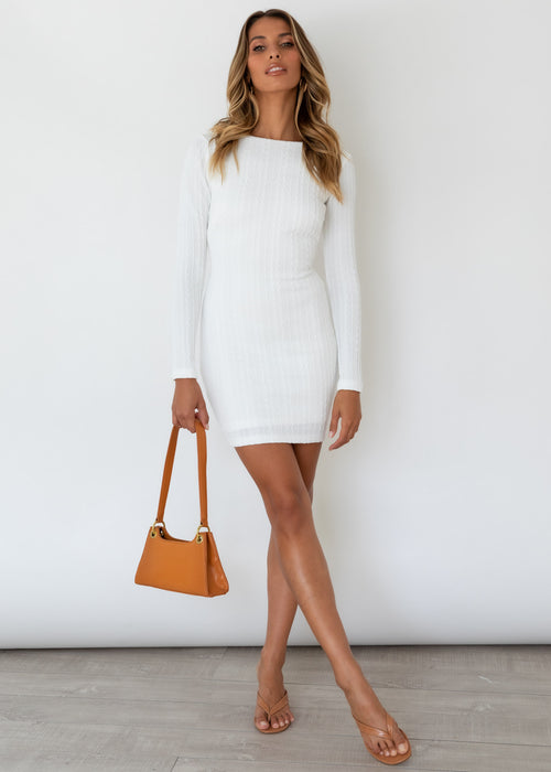 Fair Play Knit Dress - Off White