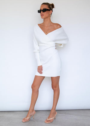 Andre Knit Mini Dress - Cream