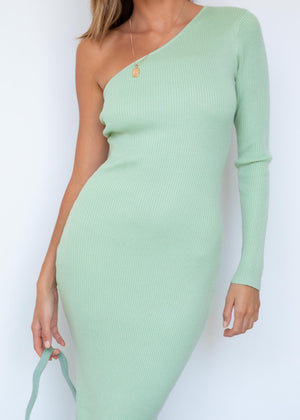Lindsi Knit Midi Dress - Pistachio