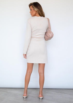 Jorgia Knit Mini Dress - Beige