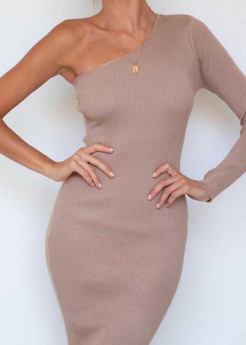 Lindsi Knit Midi Dress - Camel
