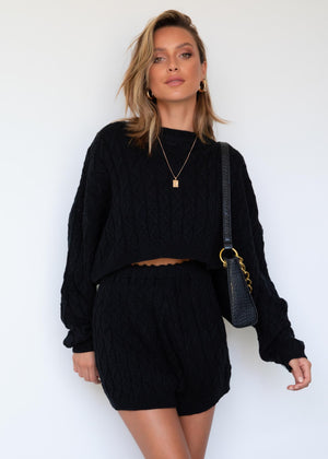 Shondra Knit Set - Black