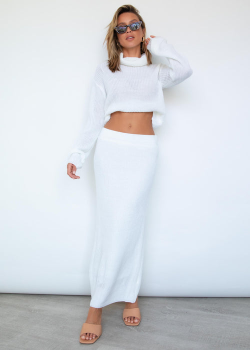 Knox Knit Set - White