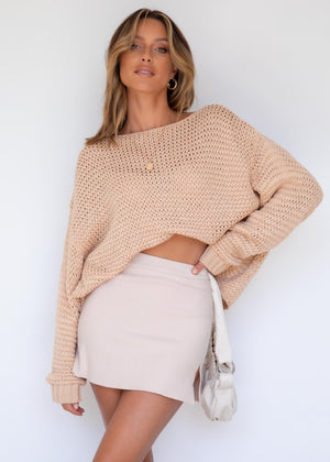 Walking The Wire Sweater - Honey Oat