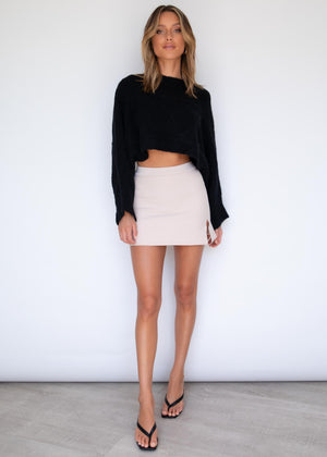 Lilliana Crop Sweater - Black