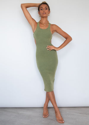 Tahni Midi Dress - Khaki
