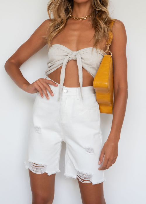 Reynolds Strapless Crop - Natural