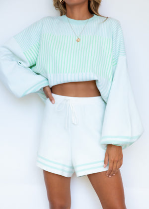 Fearless Sweater - Green Stripe