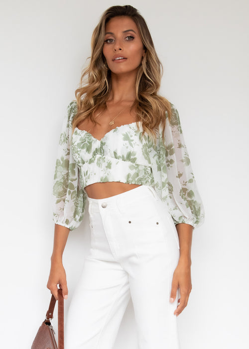 Picture Perfect Top - Green