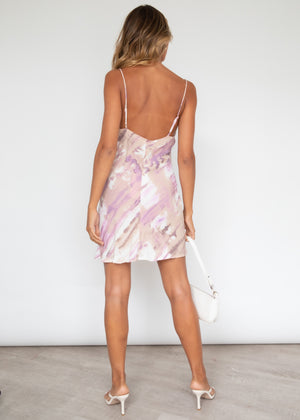 Sunset Fever Dress - Lilac Watercolour