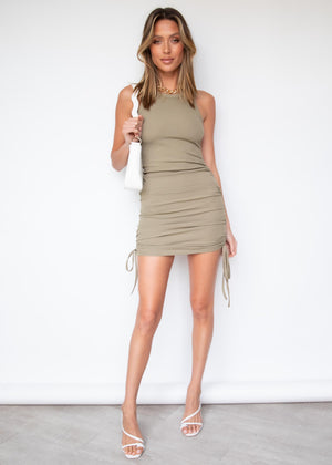 Angel Baby Knit Dress - Khaki
