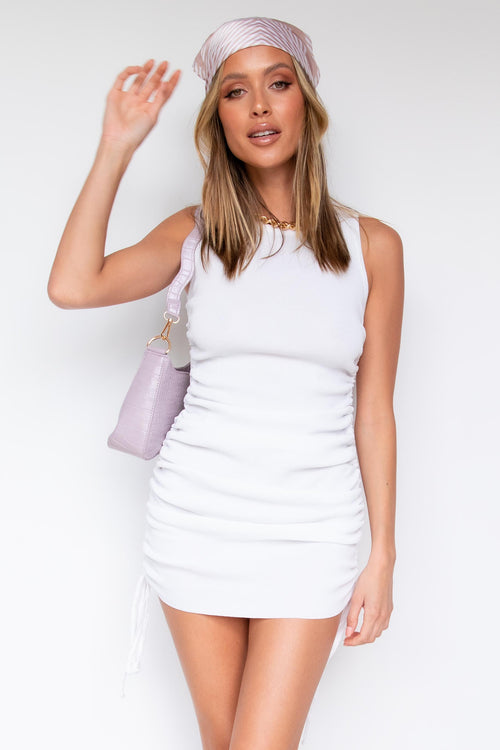 Keelee Knit Dress - White