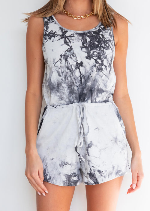 Soul Sister Playsuit - Black Tie Dye