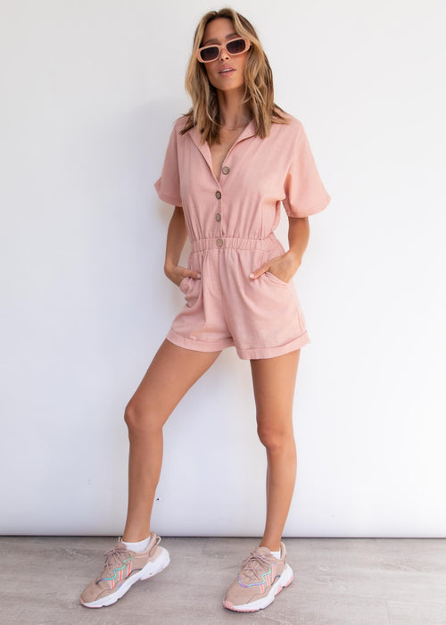 Moody Playsuit - Blush