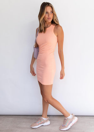Calile Mini Dress - Peach