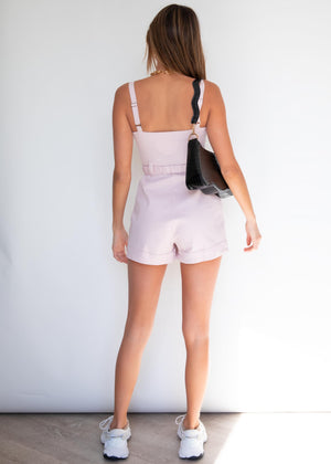 Farrah Utility Playsuit - Blush