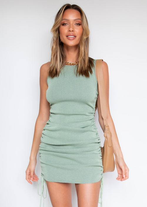 Keelee Knit Dress - Sage