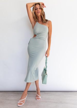 Harley Midi Dress - Khaki
