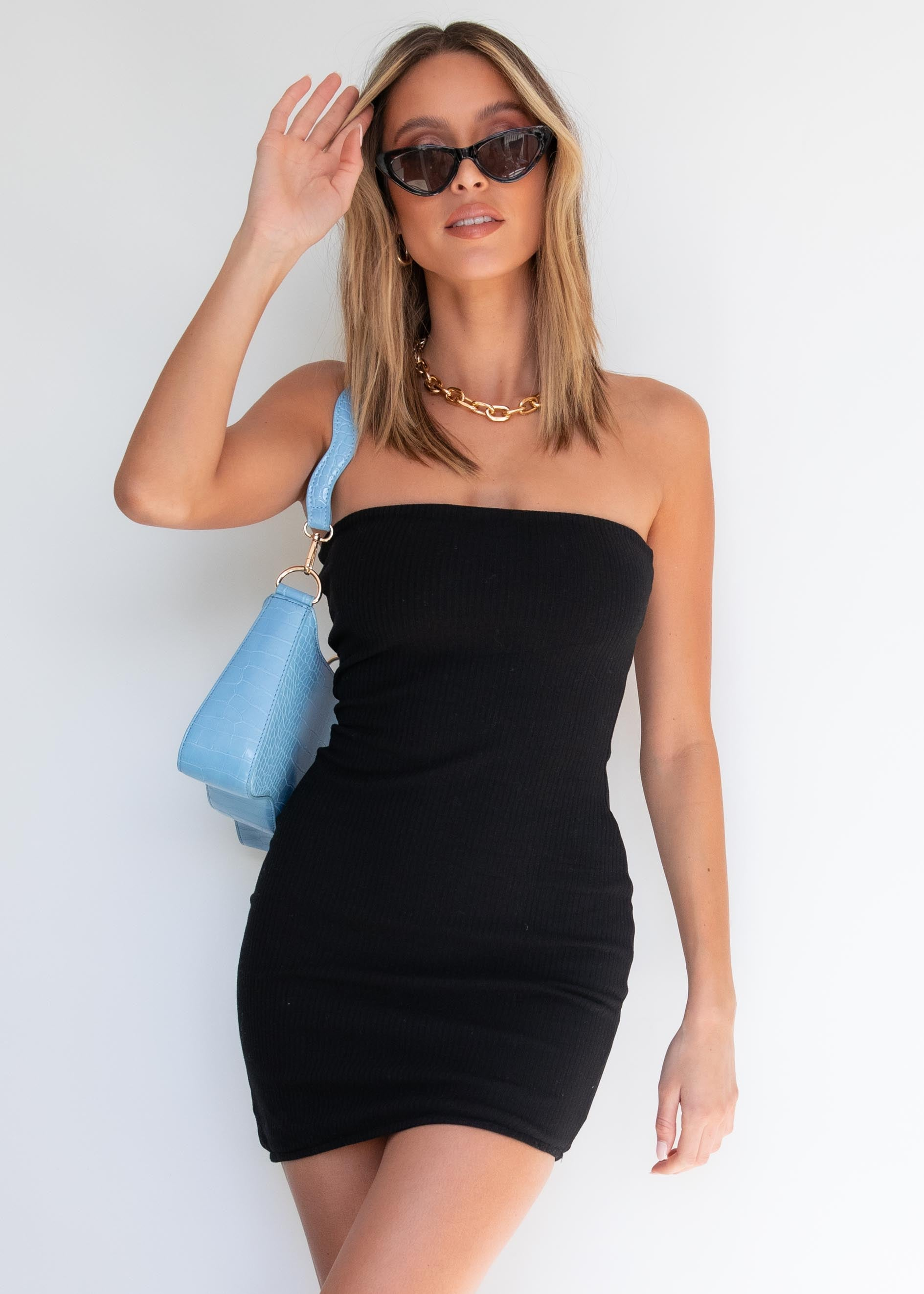 It's Our Time Strapless Dress - Black