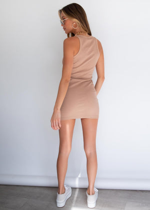 Polly Mini Dress - Camel