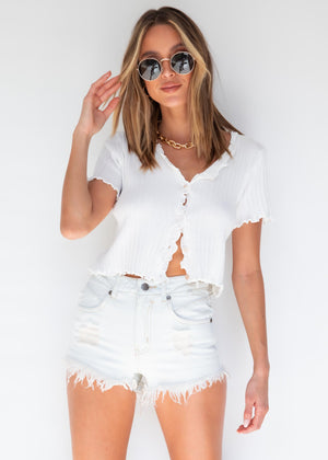 Sahara Denim Shorts - Bleach Wash