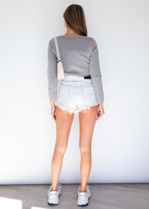 Getting Nowhere Knit Top - Grey