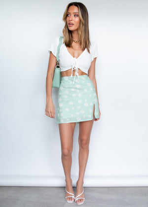 Daphne Mini Skirt - Lime