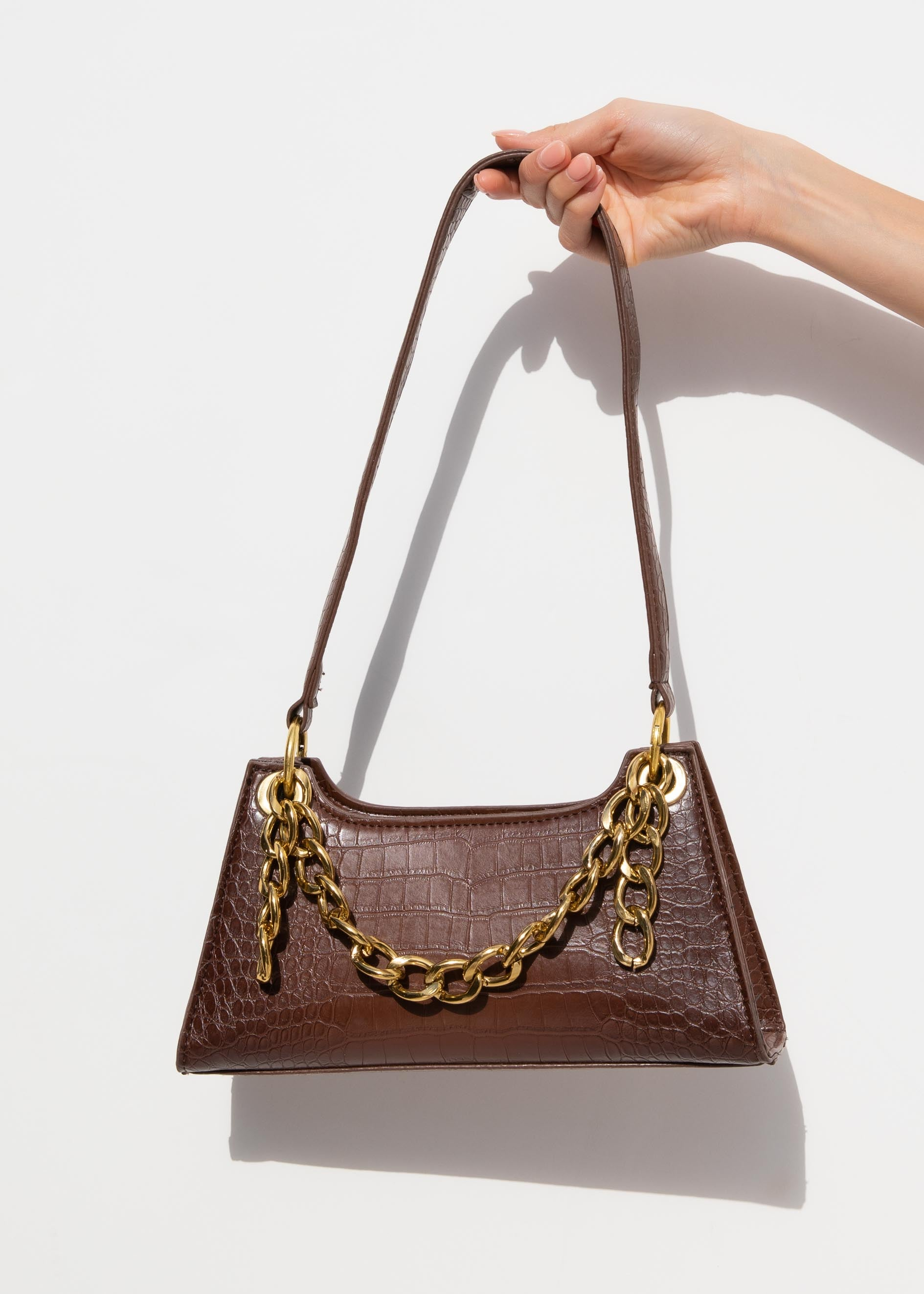 Gigi Chain Bag - Brown